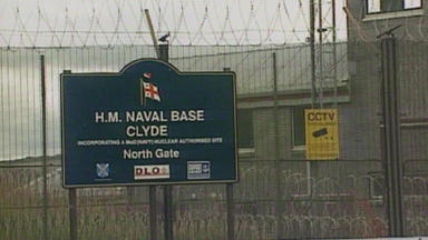 Faslane: Controversial base on the Clyde.