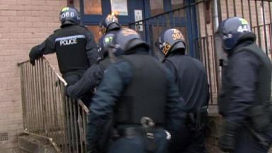 Raid: Police in raid to target organised crime gang.