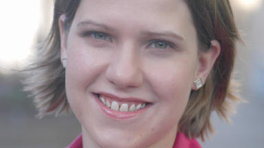 Jo Swinson: Had been favourite to lead party (file pic).