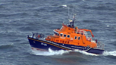 Rescue: RNLI lifeboats and coastguard assisted the angler to safety.
