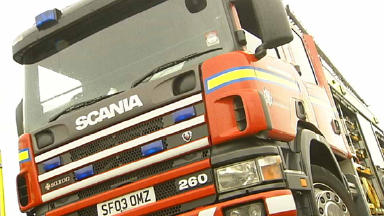 Fire: Rescue crews tackled the blaze.