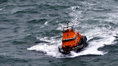Rescue: A lifeboat was launched. (file pic)