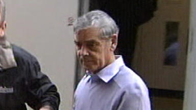 Killer: Peter Tobin is back in prison after a night in hospital (file pic).