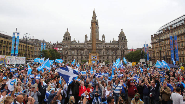 Image result for 2014 indy ref crowds