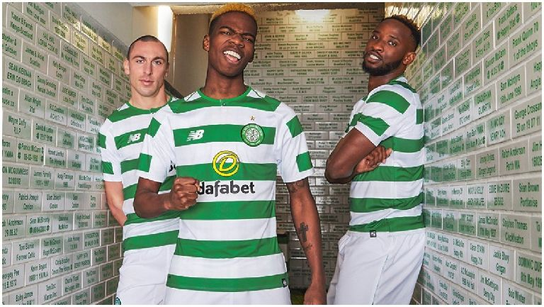Celtic stars unveil new home kit for 2018 19 season 72719db9a