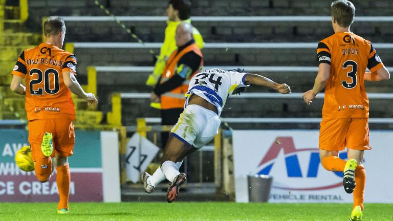 Quitongo helps Morton reach semi-final with 2-1 win over Dundee Utd