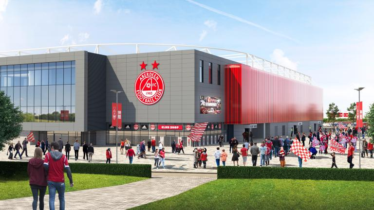 Aberdeen FC submit plans for new 20,000-seat stadium