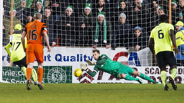 Dundee Utd boss hails 'outstanding' Bell after penalty save