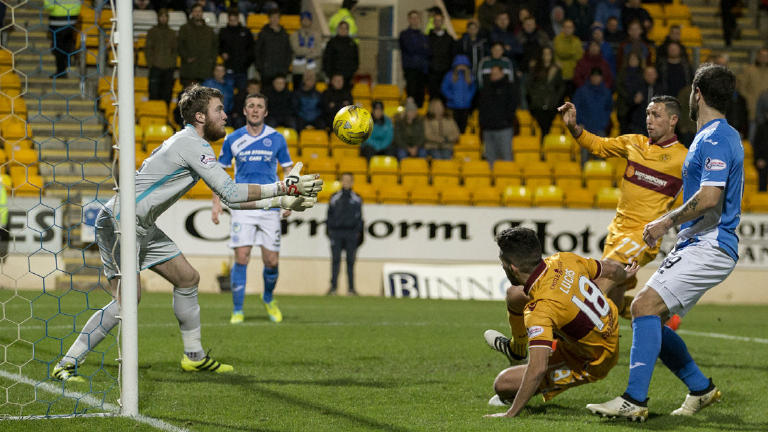 Highlights of the clash between Motherwell and St Johnstone