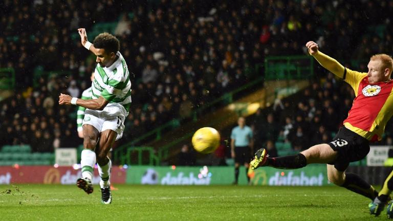 Sinclair goal extends Celtic's league lead to 14 points