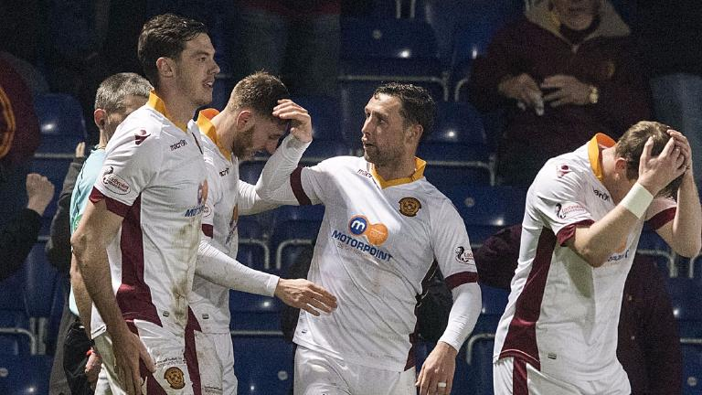 Motherwell rise to top six with 2-1 win at Ross County