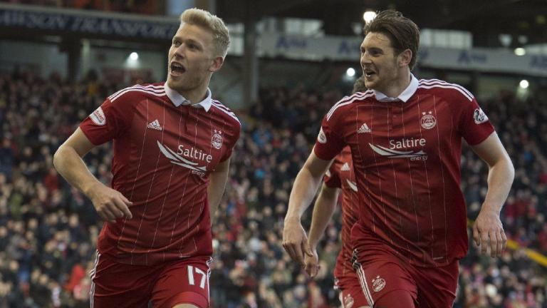 Stockley and Christie goals give Aberdeen win over Jags