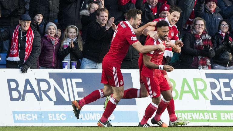 Shay Logan nets late winner for Aberdeen against Ross County