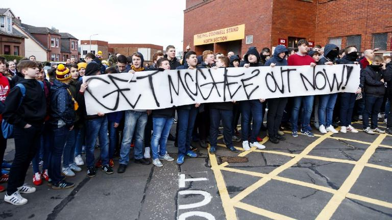 McGhee subject of half time protests as Motherwell lose