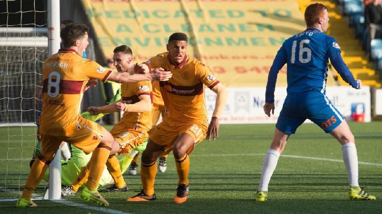 Watch highlights of Motherwell's 2-1 win over Kilmarnock