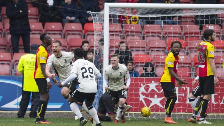 Watch highlights of Partick Thistle's 1-1 draw with ICT