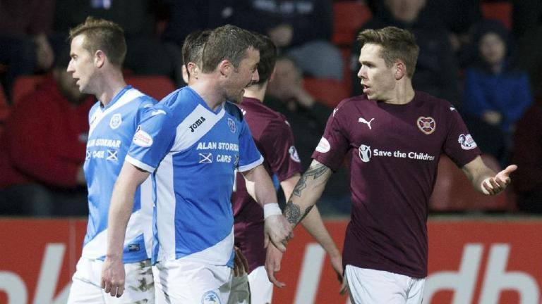 Watch the Sam Nicholson spitting incident as Hearts lose
