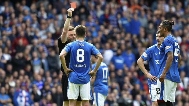 Rangers midfielder Ryan Jack wins appeal against red card