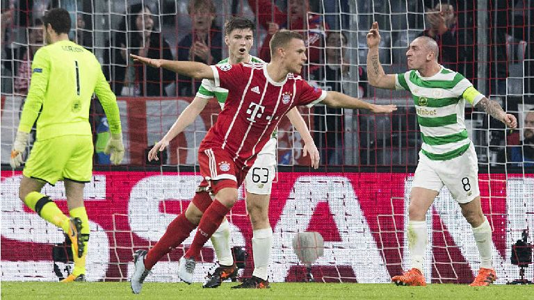 Celtic defeated 3-0 by Bayern Munich in Champions League