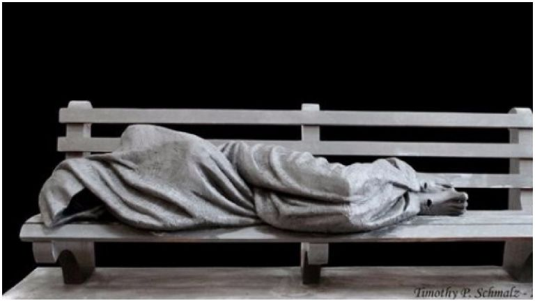 Homeless Jesus statue to be unveiled in city centre