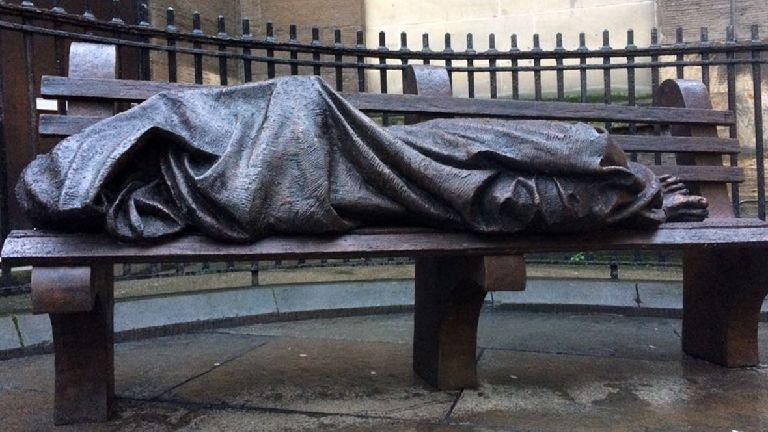 Artist's £25,000 Homeless Jesus sculpture unveiled