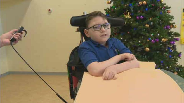 Disabled children helped to walk by 'amazing' mach
