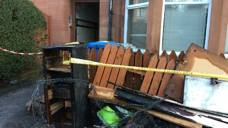 Ten people evacuated from flats after fire breaks out