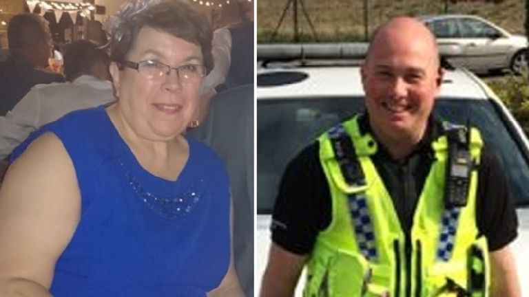 Police officer and woman killed in Christmas crash