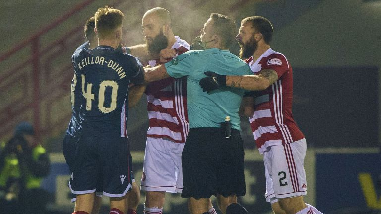 Hamilton's Skondras banned for five matches after fracas