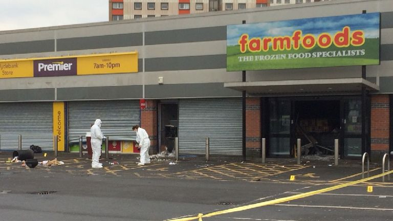 Cash machine blown up in explosion at Farmfoods store