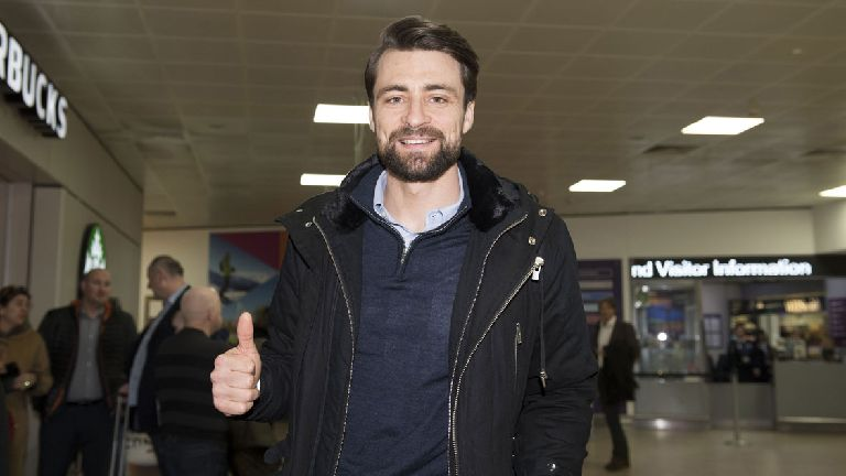 Russell Martin arrives in Glasgow for Rangers medical