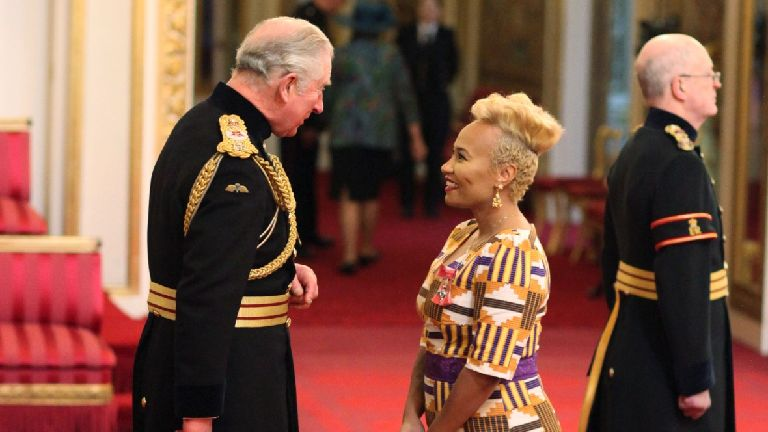 Singer Emeli Sande receives MBE at Buckingham Palace