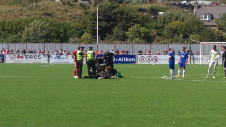 Aberdeen v Cove Rangers match abandoned as player injured