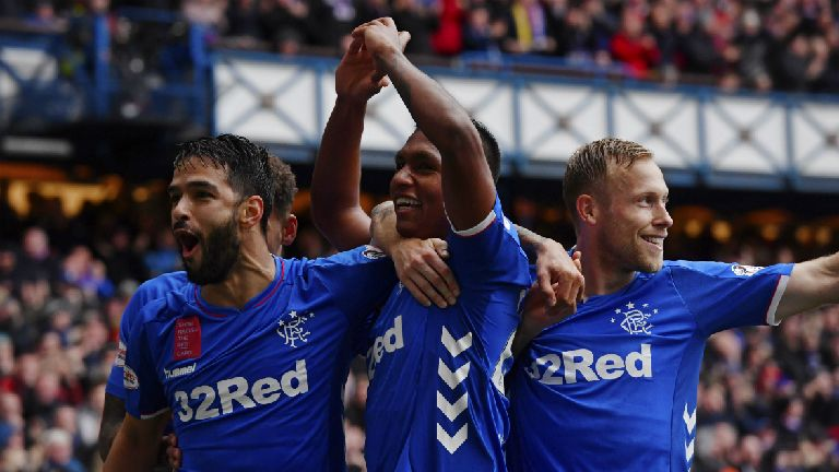 First-half flurry earns Rangers win over leaders Hearts