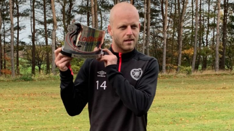 Hearts' Steven Naismith wins Player of the Month award