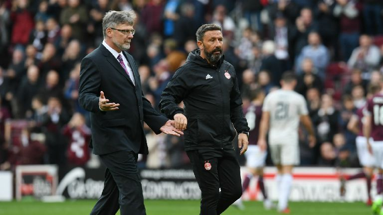 McInnes 'baffled' by penalty decision in loss to Hearts