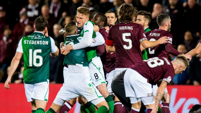 Hearts and Hibs face no action over derby flashpoint