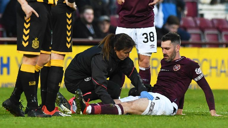 Hearts defender Michael Smith out for at least eight weeks
