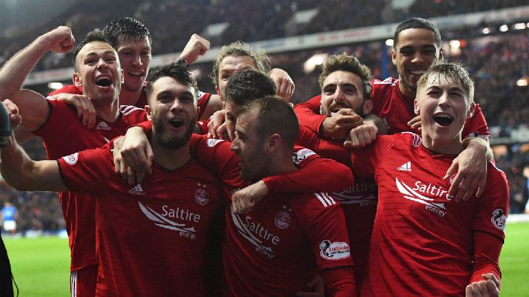 Scottish Cup: Aberdeen defeat Rangers, Hearts down Jags