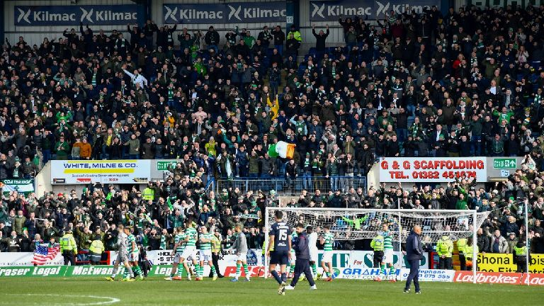 Celtic fans' Irish flag 'removed as it was covering advert'