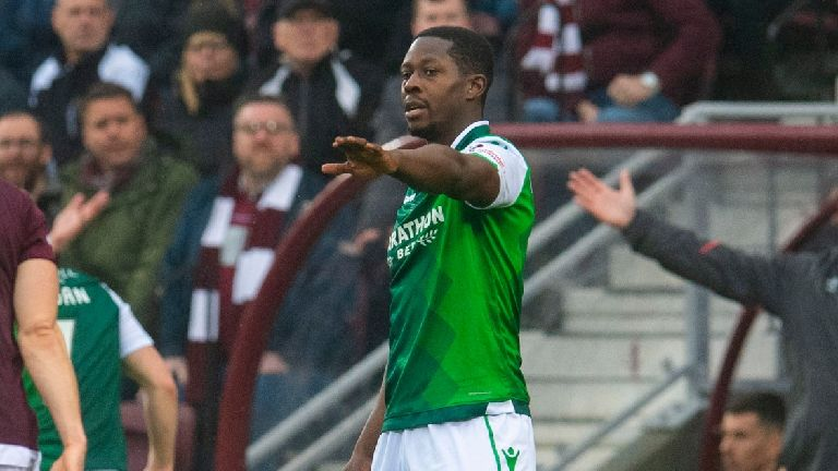 Fan arrested after Hibs' Marvin Bartley 'racially abused'