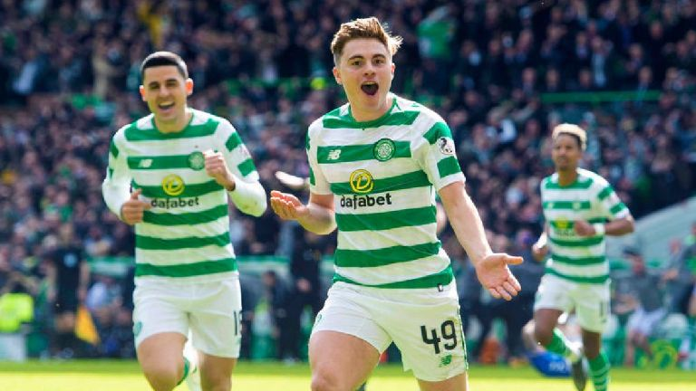Celtic's James Forrest named PFA Scotland player of the year