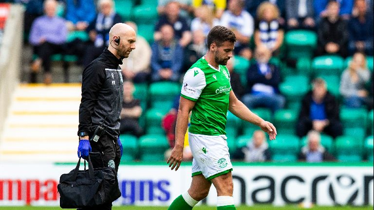 Hibs suffer blow as McGregor ruled out for 'several weeks'