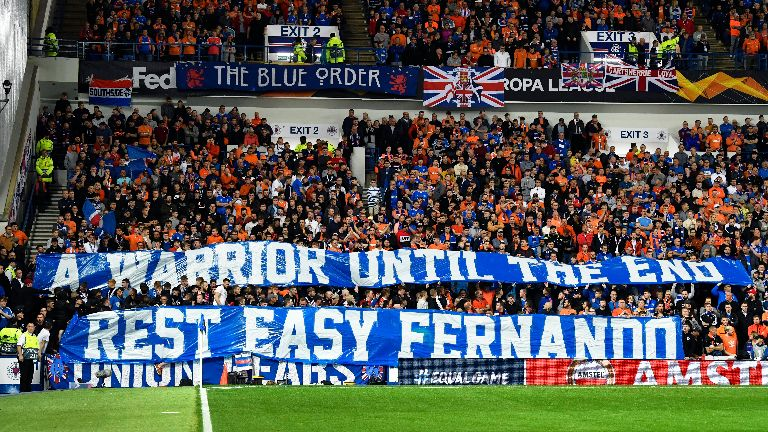 Minute's silence for Fernando Ricksen observed at Ibrox