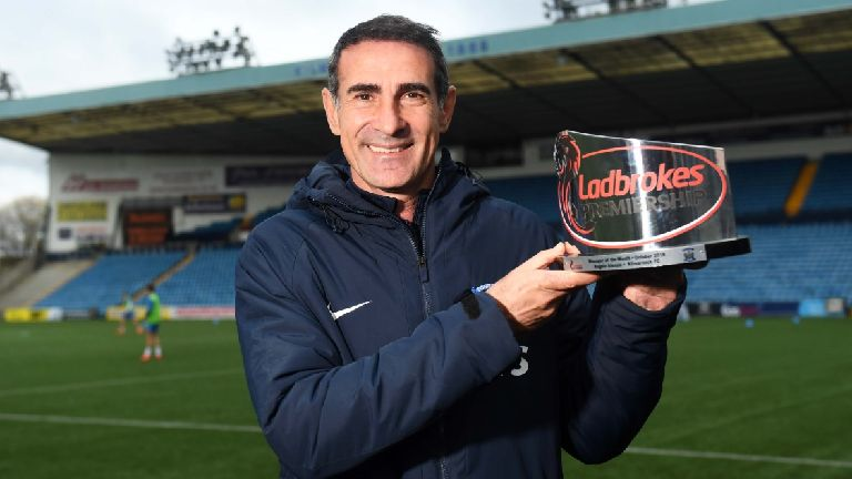 Kilmarnock boss Angelo Alessio named manager of the month