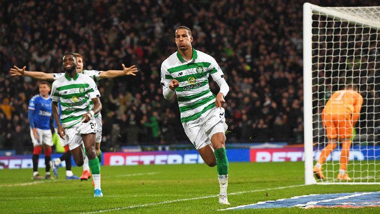 Celtic beat Rangers 1-0 to lift the League Cup trophy