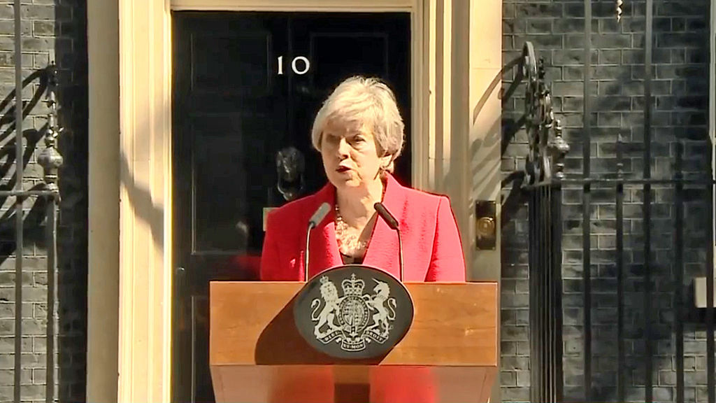 Theresa May resigns - in tears
