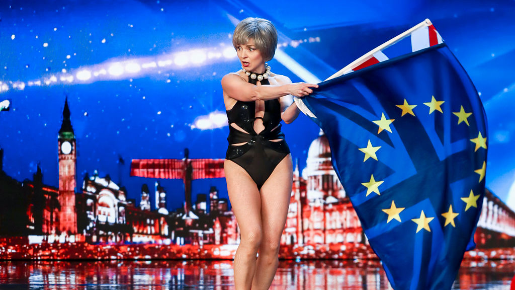 Theresa May lets loose on the BGT stage!