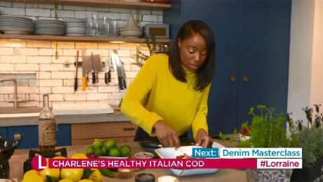 Charlene Ashong's healthy Italian cod