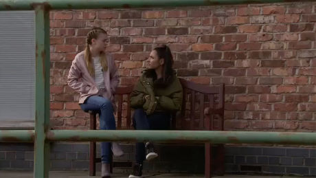 Corrie (Fri, June 5th, 7.30 pm): Having had a chat with Nina Dev agrees to go easy on Asha...